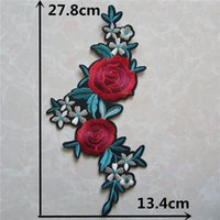 Wholesale clothing patches for sale for sale - Group buy hot sell fashion flower patches hot melt adhesive applique embroidery patches DIY clothing accessory patch for sale C5350