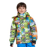 conjuntos térmicos para niños al por mayor-Caliente Niños Invierno Traje de nieve Chaqueta de snowboard Deportes Térmico a prueba de viento Profesional de esquí de montaña establecido para Boy Girl