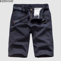ingrosso pantaloncini hombre pantaloncini-Mens Cargo Shorts Estate Uomo Cotone Casual Uomo Breve 2019 Base Pantalon Corto Hombre Solido Vestiti Diritto di Alta Qualità 28-38