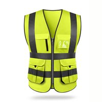 Wholesale safety clothing coat for sale - Group buy Reflective Vest Outdoor Riding Safety Sanitation Workers Clothing Traffic Car Vests High Visibility Fluorescent Yellow Coat T191226