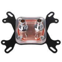 Wholesale cpu water block aluminum resale online - Computer CPU Water Cooler mm Transparent Cover Cooling Block For AMD Intel T3LB