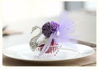 Wholesale silver swan favors for sale - Group buy New Novelty Wedding Favor Boxes Acrylic silver Swan Wedding Gift Candy Favor Sweetbox Candy Package Wedding Favors holders SN2170