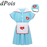 Wholesale black white aprons for sale - Group buy Fancy Party Dress Up For Kids Girls Role Play Doctors Nurse Halloween Cosplay Stage Dance Costumes Dress Hair Hoop Apron Suit
