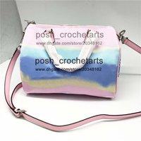 Wholesale plum paper resale online - Pastel Pink Designer Boston Bag Luxury Handbag Purses for Sale Tie Dye Boston Bags Designer s Tie Dye Handbags With Paper Gift Bag