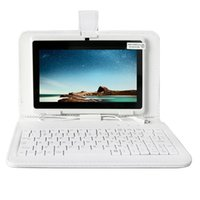 ingrosso android tablet pc bianco-YUNTAB bianco da 7 pollici Q88 Tablet PC Quad Core da 1,5 GHz touch screen 1024x600 Dual Camera Tablet Android4.4 (aggiungi tastiera bianca)