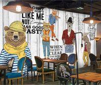 live wallpaper hd al por mayor-Estilo de madera Fotografía de papel tapiz fotográfico Mural grande para la sala de estar Restaurante Tienda Arte de la pared Decoración HD Impreso Murales de pintura