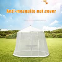 Wholesale umbrella mosquito resale online - Patio Umbrella Cover Mosquito Netting Screen Zipper Enclosure for Garden Furniture Table Drop