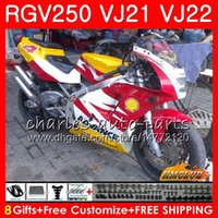 Wholesale fairing 1989 resale online - Body For SUZUKI RGV250 Frame yellow red hot HC RGV VJ21 SAPC RGV VJ22 Fairings