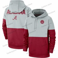 black college hoodies 2021 - Mens Alabama Crimson Tide Tops Rivalry Therma Performance Pullover Hoodies Football University College Sports Sweatshirts Size S-4XL