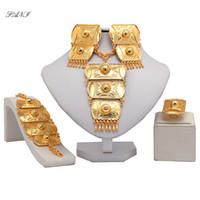conjunto de cristal verde austríaco venda por atacado-Fani nigeriano casamento mulher acessórios conjunto de jóias por atacado de moda africano conjunto de jóias de noiva Dubai cor de ouro
