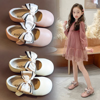 Wholesale dress shoes soft soles for sale - Group buy AAdct girls shoes flat spring autumn baby little princess leather kids shoes for girls bow soft sole