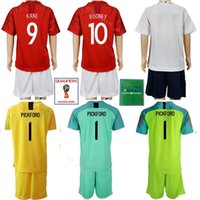 Wholesale set army boy online - 2018 World Cup Dele Alli Youth Jersey UK Set Soccer Kids CAHILL YOUNG Football Shirt Kits Uniform HENDERSON LINGARD VARDY Red White