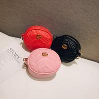 koreanische taschen kreuzen großhandel-Baby Kids Designer Handtaschen Korean Fashion Girls Mini Prinzessin Geldbörsen Schönes Design Kinder Runde Taschen Mädchen Umhängetaschen Weihnachtsgeschenke
