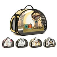 Wholesale puppies shoulder bags for sale - Group buy Transparent Dog Carrier Foldable Handbag Cat Travel Bag Breathable Shoulder Bags For Small Dogs Puppy Carrying Pet Backpack