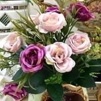 peonias de casa al por mayor-1 el ramo nupcial de la boda peonía Hydrangea house flor artificial Día de San Valentín aniversario de la fiesta de compromiso floral