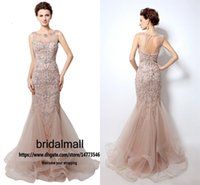Wholesale heavy trumpet for sale - Group buy Heavy Beaded Diamond Mermaid Evening Dresses Elegant Jewel Neck Rhinestones Sequins Long Formal Evening Gowns Sexy Backless Party Prom Dress
