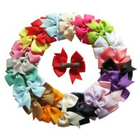 Wholesale PrettyBaby baby girl ribbon hair bows clips hairpin girls butterfly hairgrip hairwear kids hair accessories colorful the_one B11