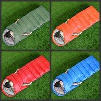 açık yetişkin uyku tulumu toptan satış-Ulaşılabilir Uyku Tulumları Zarf Açık Havada Çok Renkli Yetişkin Şapka Ile Dört Mevsim Yetişkin Kalınlaşma Yaratıcı Sıcak Satış 32txf1