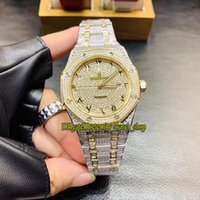 Wholesale watches arabic numerals resale online - Top version Royal Series BC ZZ BC Arabic numerals Diamond Dial Miyota Automatic Mens Watch Gold Diamonds Case Designer Watches
