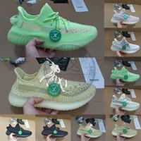 x golf toptan satış-Kutu Stok X Makbuz ile Yeni Antlia Lundmark GID Siyah Statik Kil Boyutu 13 Erkek Kadın Koşu Ayakkabıları Kanye West Tasarımcı Sneakers Eğitmenler