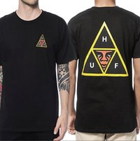camiseta triángulo hombre al por mayor-2019 marca Moda hombre mujer camiseta casual Unisex Tour Mujeres cara de manga corta Imprimir triángulo T-Shirt Tees Tops