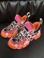 zapatos al aire libre de la nueva tendencia al por mayor-Zapatos de diseño 2019 Trend New Listing Hombre Calzado de lujo Casual para mujer Aumento de altura Zapatos para caminar al aire libre Flashtrek Crystas extraíbles