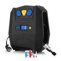 ingrosso sacchetto di compressione dell'alloggiamento-Pompa del compressore d'aria automatica di CC 12V per generi di veicoli Pompa gonfiabile portatile del compressore d'aria di auto 12V DC Auto Digital Gonfiatore