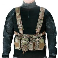Wholesale magazine pouch molle resale online - New Outdoor Tactical Chest Rig Hunting Vest Molle Pouch Simple Tactical Vest with Magazine Pouch