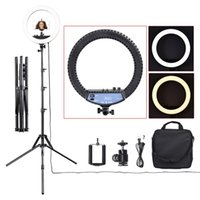 Wholesale photo camera stand resale online - onsumer Electronics fosoto RL II inch Ring lamp K K Photography Makeup Led Ring Light Tripod Stand For Camera Photo Studio P