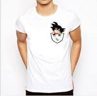 dragonball goku vegeta al por mayor-Diseñador Camiseta Hombre Verano Dragon Ball Z Super Son Goku Slim Fit Cosplay 3D Camisetas Anime Vegeta Dragon Camiseta de manga Homme Asia Tamaño