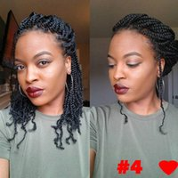 Wholesale kinky curl hair ombre online - 8 inch strands Kinky Curl Spring Twist Crochet Braids Curly Weave Braiding hair Synthetic Spring Twist Ombre braiding hair Extensions
