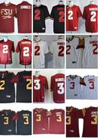 Wholesale college custom jerseys resale online - Custom NCAA Florida State Seminoles Deion Sanders Jersey College Football Derwin James white red black Deondre Francois