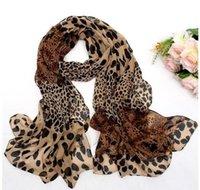 medio animal al por mayor-2019 MODA Pañuelo de gasa con estampado animal de leopardo Envuelto Estola de mantón (marrón medio) Peso ligero 160 x 60 cm