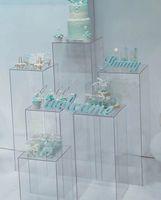 подставки для цветов оптовых-Ваза с цветами прозрачная акриловая Подставка для цветов Подставки для букетов свадебные Центральные витрины Витрина для витрины прохода дороги ведет свадебные цветы фоны