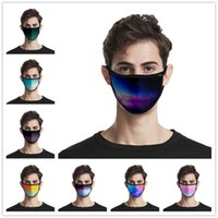 Wholesale bicycle face protection for sale - Group buy Bicycle Fashion Ice Silk Elastic Ear Loop Face Masks Dustproof Breathable Mouth Nose Protection Aurora Color Gradient D Printed Mask