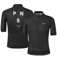 Wholesale team pink clothing resale online - 2019 Pro Team PNS Summer Cycling Jersey For Men Short Sleeve Quick Dry Bicycle MTB Bike Tops Clothing Wear Silicone Non slip