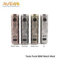 Wholesale vape classic resale online - Tesla Punk W Mech Mod Classic Teslacigs Punk Style Compitible with Single Battery Vape Mod Original