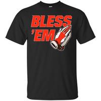 футбольные майки оптовых-Черные футболки - Bless 'Em - Футболка Browns Vintage Vintage для мужского размера Discount Hot New Tshirt Color Jersey Футболка с принтом