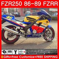 Wholesale repsol silver online - Body For YAMAHA FZRR FZR R Repsol blue hot FZR HM FZR250RR FZR250R FZR FZR250 Fairing