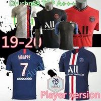 ev oyuncusu toptan satış-Oyuncu versiyonu PSG futbol forması 2019 2020 Paris DI MARIA MBAPPE CAVANI VERRATTI saint germain 19 20 home away üçüncü futbol forması