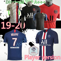 futbol formaları toptan satış-Player sürümü PSG futbol forması 2019 2020 Paris DI MARIA MBAPPE CAVANI Verratti 19 20 ev uzakta üçüncü futbol forması