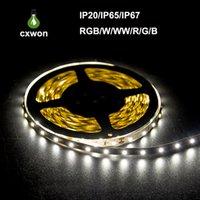 led lighting venda por atacado-Frete grátis 100 mm lote 3528 5050 SMD RGB 12 V À Prova D 'Água Não-impermeável Led tiras flexíveis luz 300 Leds 5 M duplo lado boa qualidade 2016