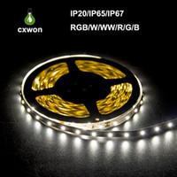 ingrosso 12v ha condotto le strisce di illuminazione-Spedizione gratuita 100 m lotto 3528 5050 SMD RGB 12 V impermeabile non impermeabile led flessibile strisce di luce 300 LED 5 M doppio lato di buona qualità 2016