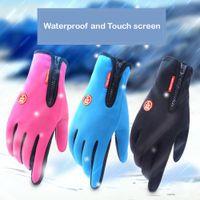 ingrosso motociclo windstopper-Adeeing guanti del motociclo guanti di guida Guanti da sci dello schermo di tocco Windstopper caldo Full Finger Per Sport invernale più venduti