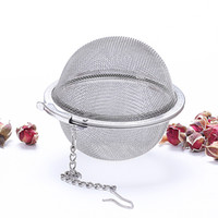 Wholesale tea pot stainless steel infuser filter resale online - High Quality Tea Strainer Stainless Steel Tea Pot Infuser Mesh Ball Filter With Chain Tea Maker Tools KD1017