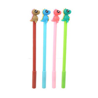 Wholesale stationery for sale - Student Writing Gel Pen Cute Cartoon Learning Office Water Based Pen Dinosaur Silicone Head Creative Stationery Black Signature Pen