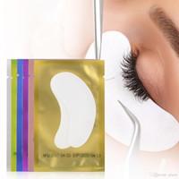 sob almofadas venda por atacado-Vender Hot 2018 Hidrogel Fino Eye Patch para Extensão Dos Cílios Sob Os Remendos do olho Sem Fio Gel Pads Umidade Máscara de Olho