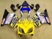 ingrosso giunzioni gialle f4i-Nuove carenature in ABS per carrozzeria Kit per HONDA stampato ad iniezione CBR 600 F4i FS 01 02 03 CBR600 2001 2002 2003 carene blu giallo