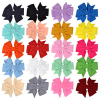 Wholesale pinwheel flower for sale - Group buy 20 Colors Inches Baby Girls Bowknot Barrettes Kids Pinwheel Bow Hair Clips Bubble Cloth BB Hair Pins Children Hair Accessories M1537
