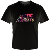 monos de roca al por mayor-ARCTIC MONKEYS Logotipo de la banda de rock Camiseta para hombre Camiseta para hombre Camiseta de manga corta O-cuello Camisetas de algodón Camiseta de manga corta